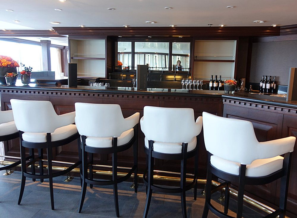 The bar area in Prime C restaurant.