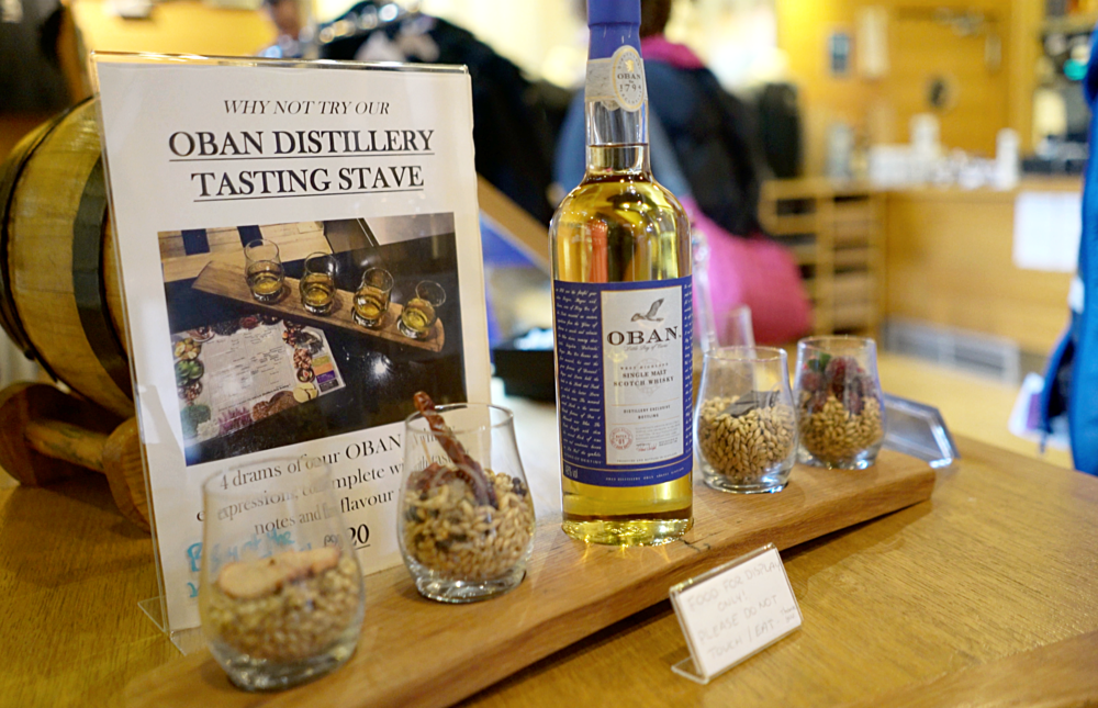 You can sample the 4 whisky's produced in the Distillery in their in-house bar.
