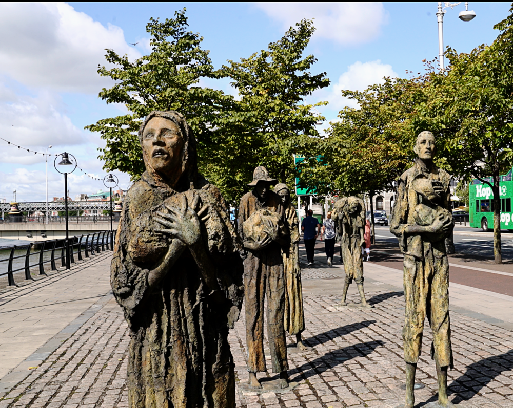 The thought-provoking Famine Memorial.