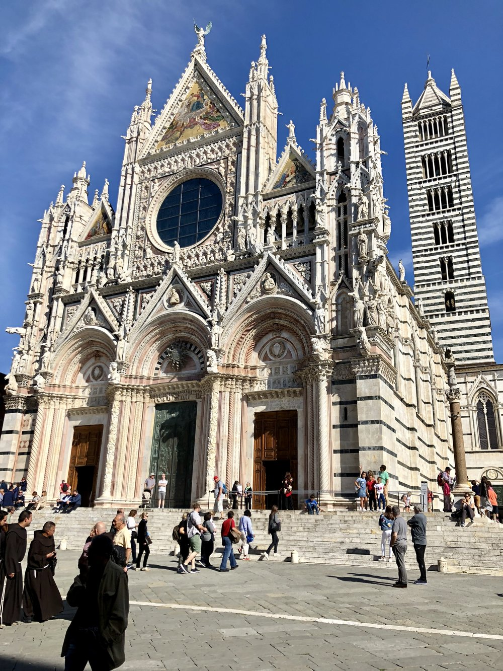 Siena cathedral and bell tower.
