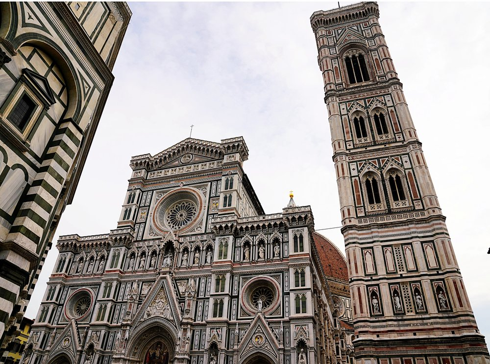 The Duomo and Bell Tower at Florence cathedral.