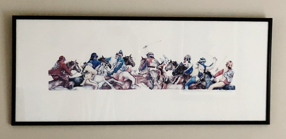 Our original painting of the Palio di Siena.