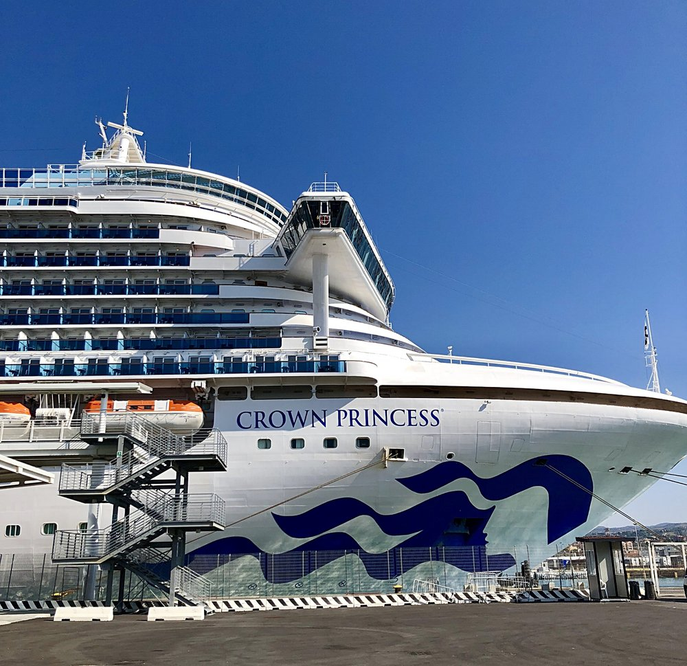 The Crown Princess was waiting for us to board in Civitavecchia.