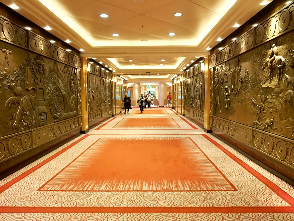 The magnificently adorned corridors leading off the Grand Lobby.