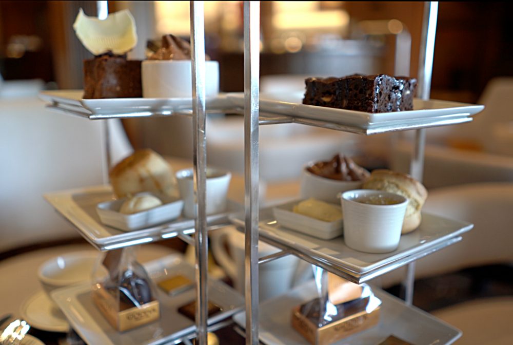 Godiva afternoon tea selection