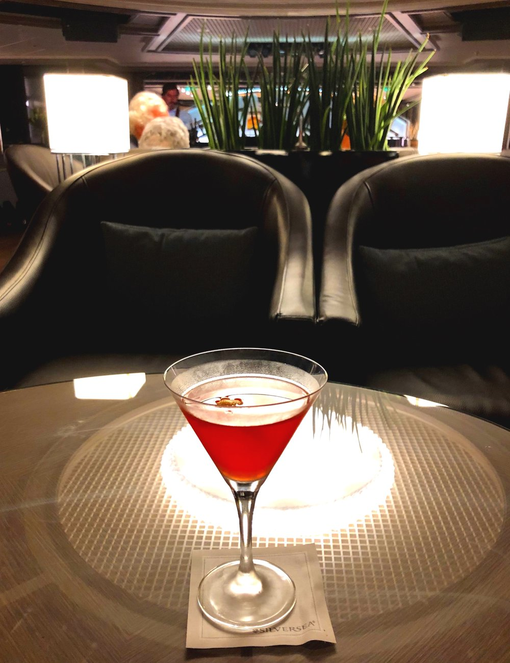 Cocktails in the Dolce Vita lounge.