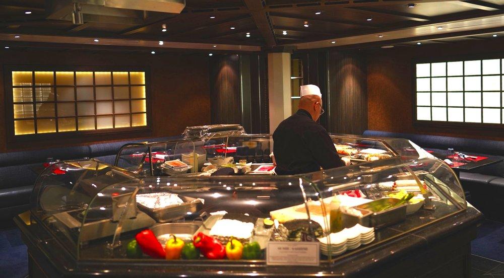 Seishen's sushi bar