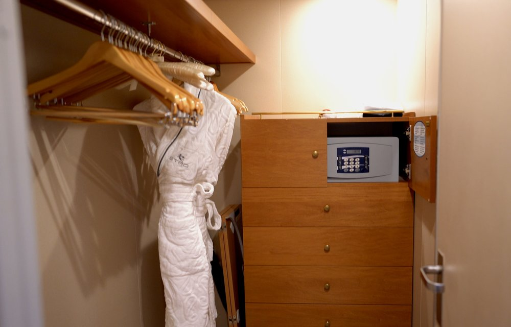 Spacious wardrobe and luxurious robes.