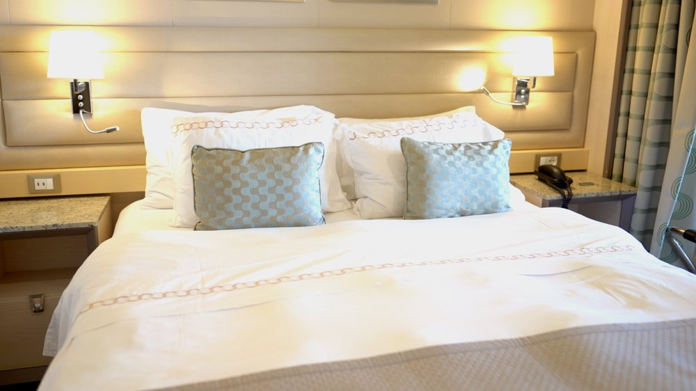 Luxurious Italian bedlinen.