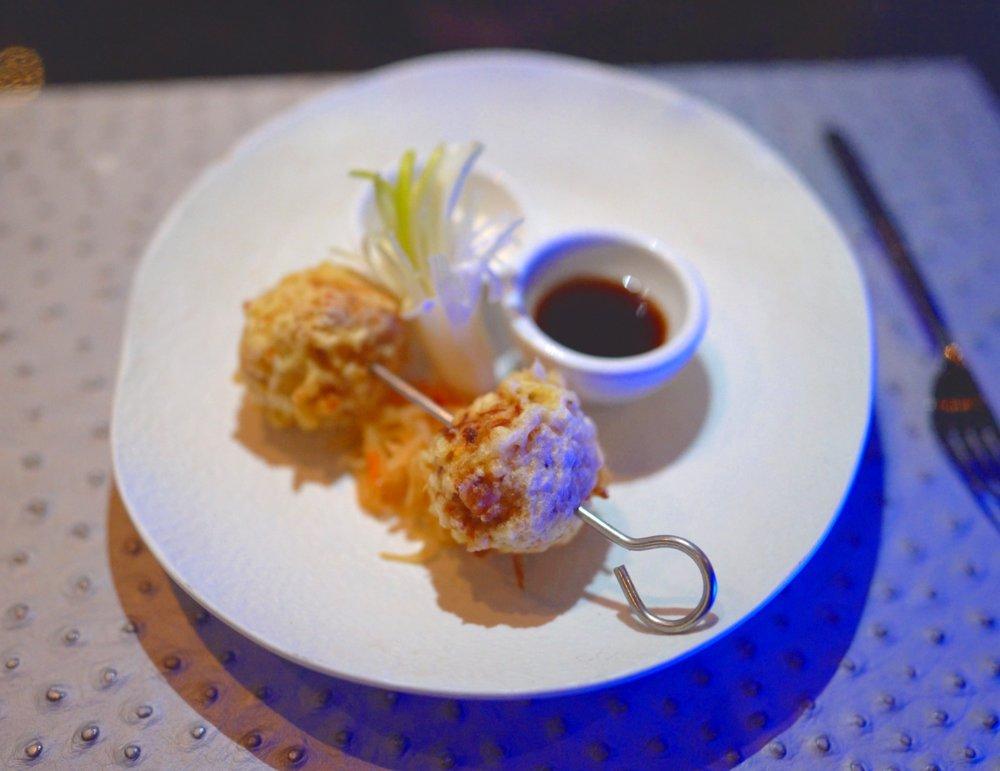 King crab tempura.