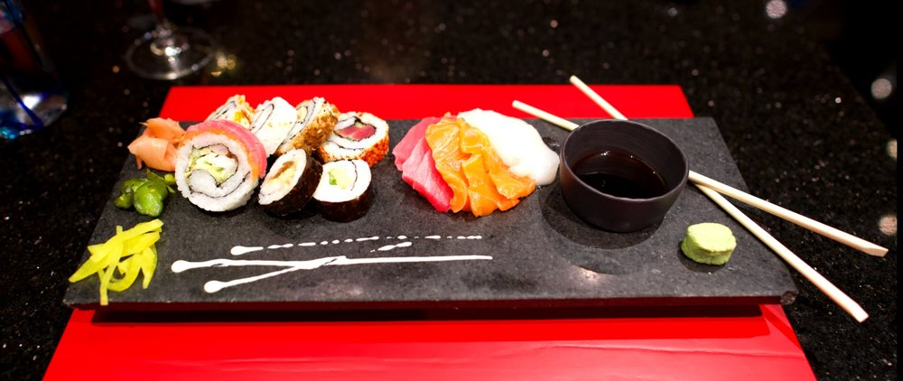 Silversea assorted sushi