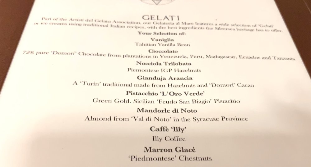 Atlantide gelato selection.