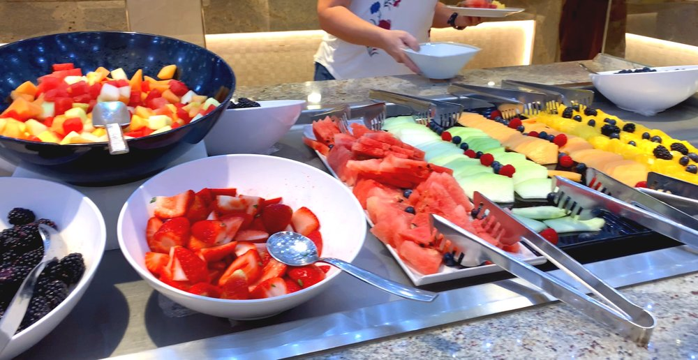 A delicious array of fresh fruit and berries.