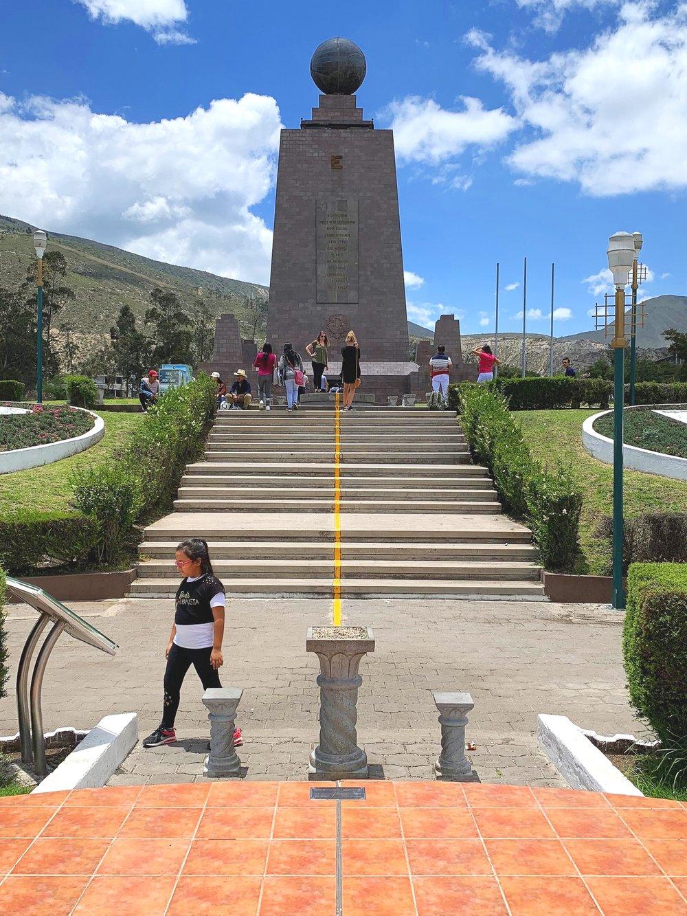 The original equator monument.