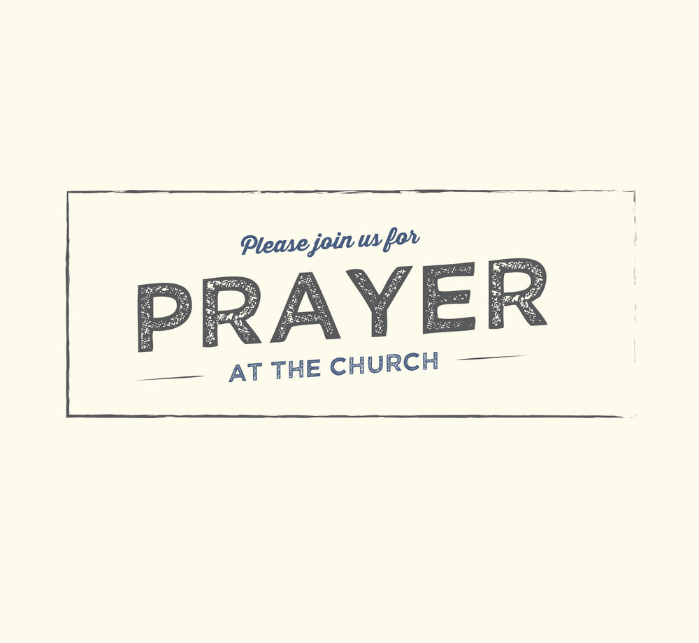 Join us every Sunday evening at 6:30pm for prayer at the church. You will be blessed!