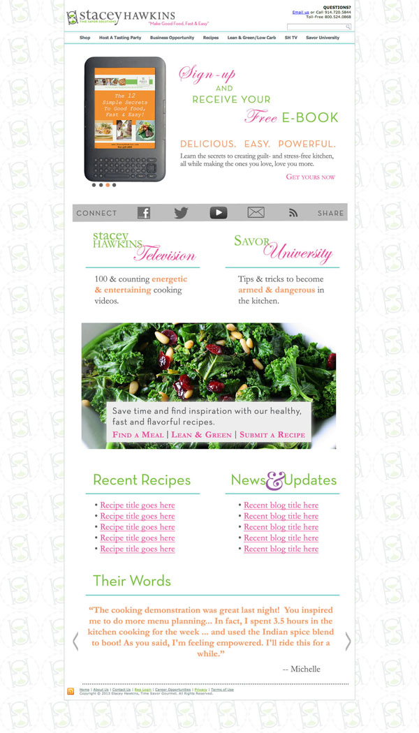 Website Homepage Layout