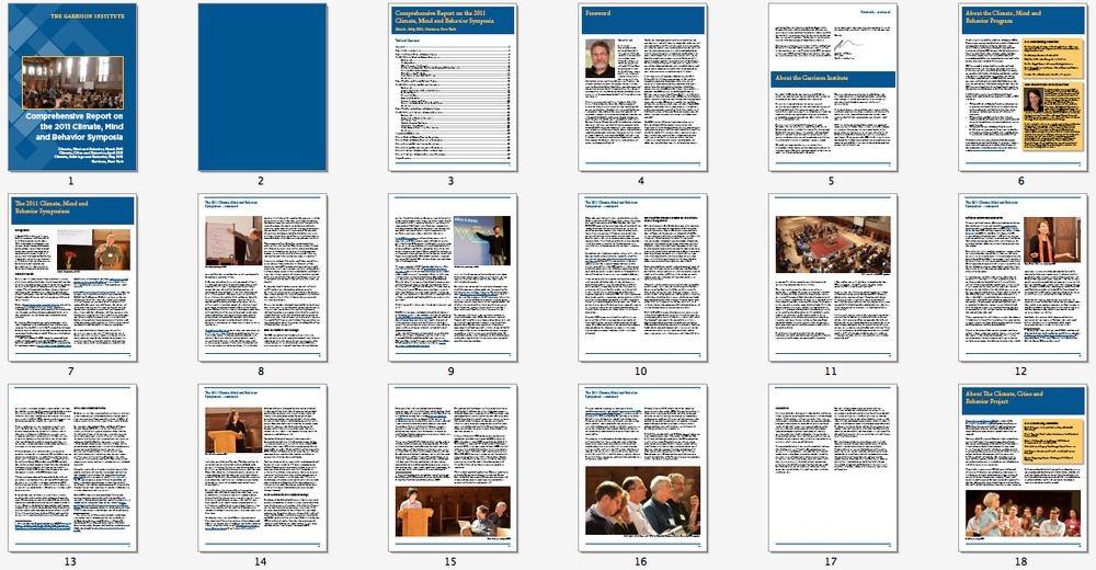 Annual Report Print Layout