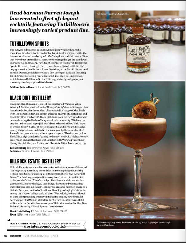 Upstater Magazine, farm to cocktail feature