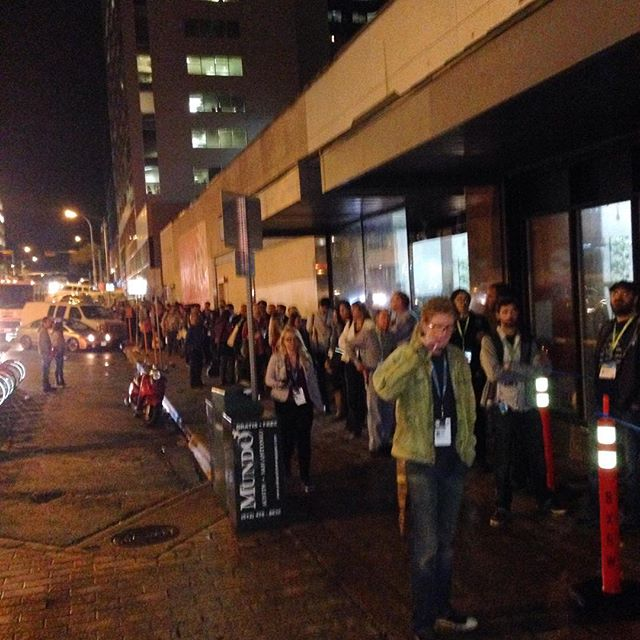 The BACK half of the line at tonight's premiere #sxsw