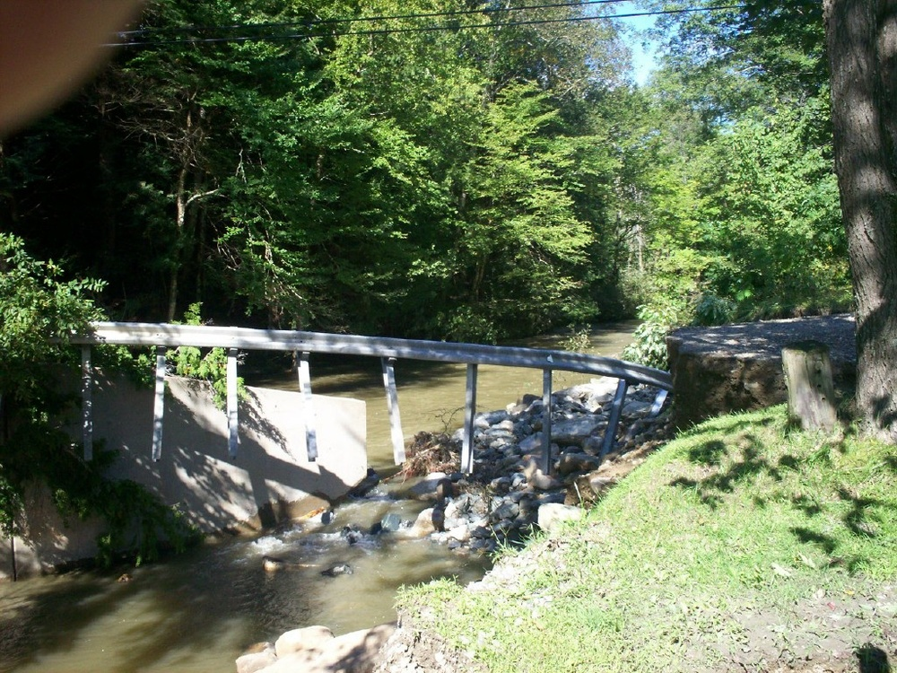 Damage to Heald Rd Bridge, Proctorsville