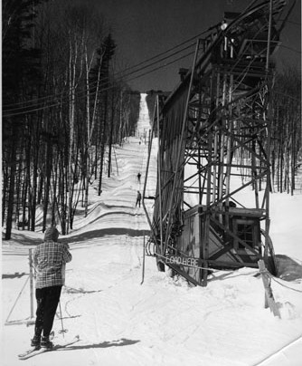 Original rope tow at Okemo, which turns 60 on Feb. 1.