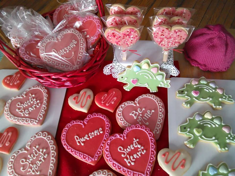 Sweet treats all decked out for your Valentine at Crows Bakery and Opera House Cafe on Depot Street, Proctorsville.