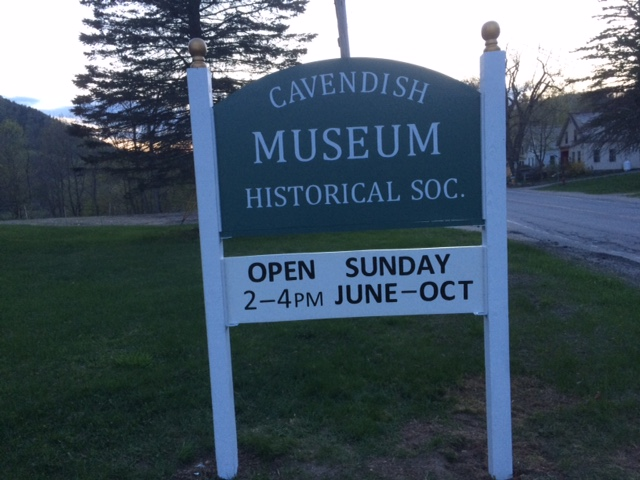 Thank you to Carl Liener for the new sign in front of the Cavendish Historical Society Museum.