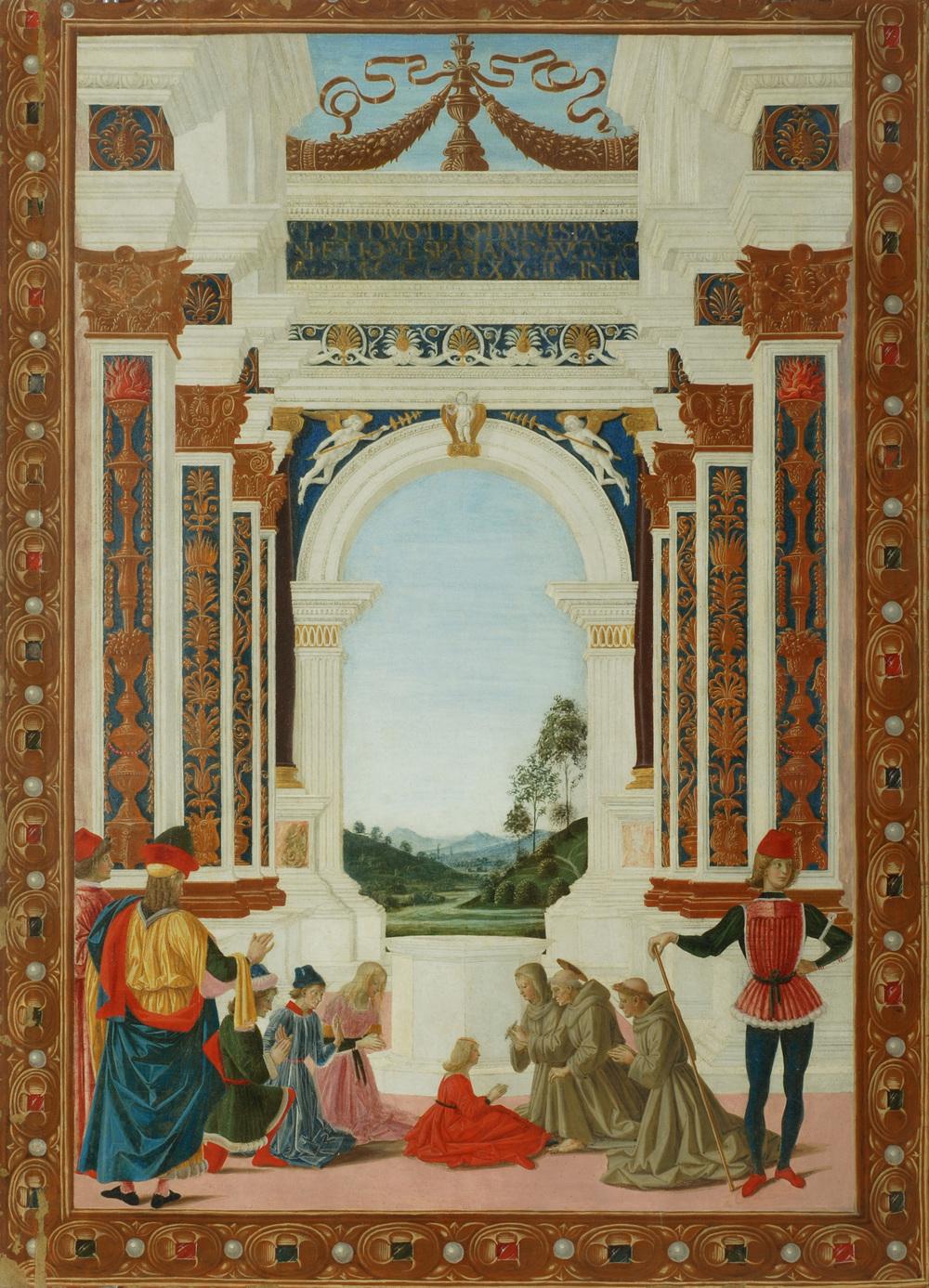 Le Pérugin,  Saint Bernardin soigne d'un ulcère la fille de Giovanni Antonio Petrazio da Rieti , Pérouse, Galleria Nazionale dell'Umbria