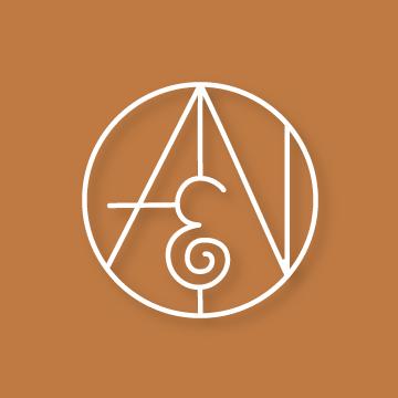 A&N | Monogram design by Erin Fiore | erinfiore.com