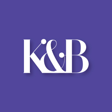 K&B | Monogram design by Erin Fiore | erinfiore.com