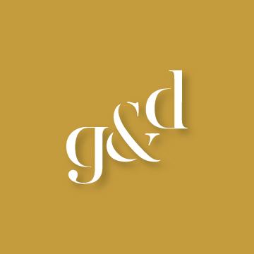 G&D | Monogram design by Erin Fiore | erinfiore.com