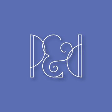 P&D | Monogram design by Erin Fiore | erinfiore.com