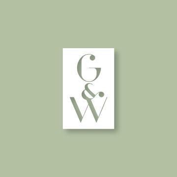 G&W | Monogram design by Erin Fiore | erinfiore.com