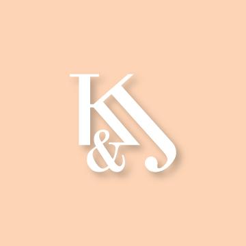 K&J | Monogram design by Erin Fiore | erinfiore.com