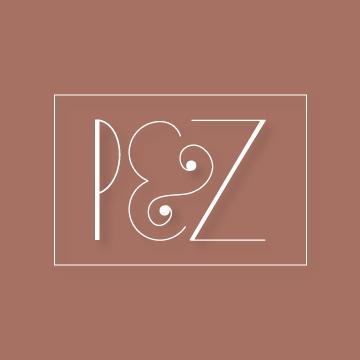 P&Z | Monogram design by Erin Fiore | erinfiore.com