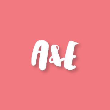 A&E | Monogram design by Erin Fiore | erinfiore.com