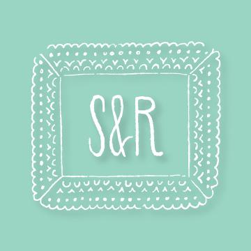 S&R | Monogram design by Erin Fiore | erinfiore.com