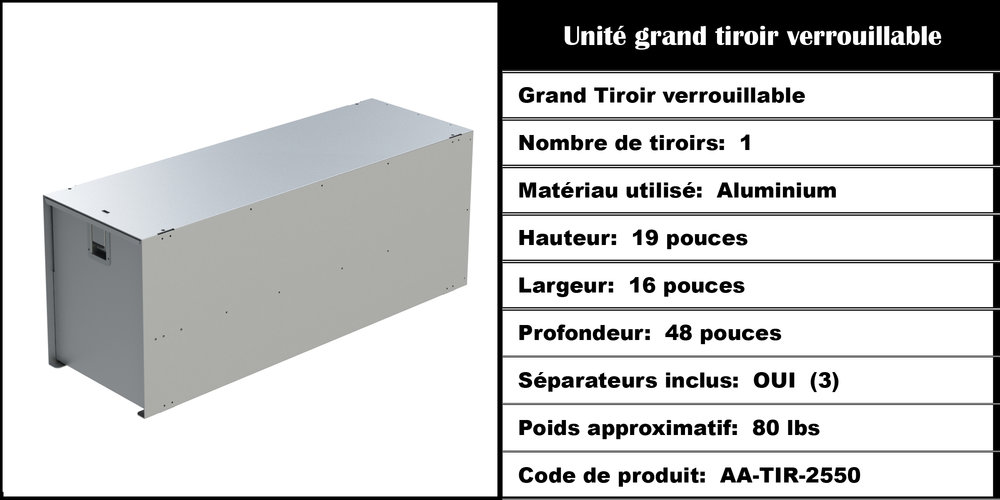 Grand tiroir 2550
