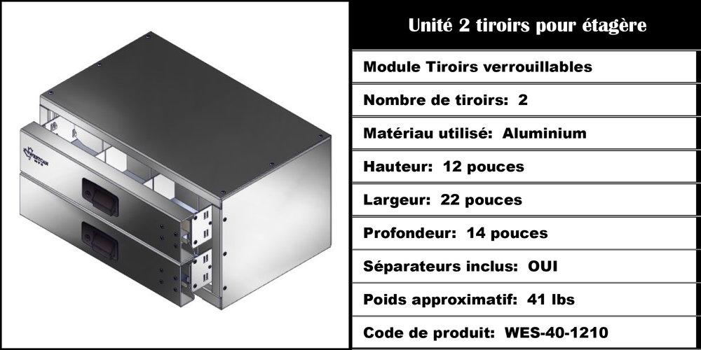 Module Tiroirs WES-40-1210