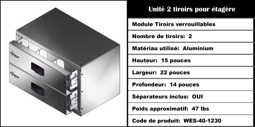Module Tiroirs WES-40-1230