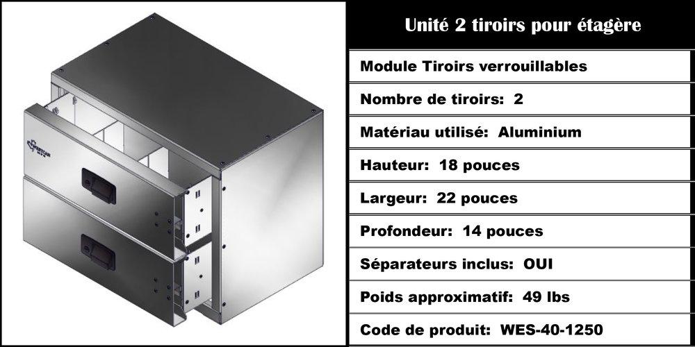 Module Tiroirs WES-40-1250