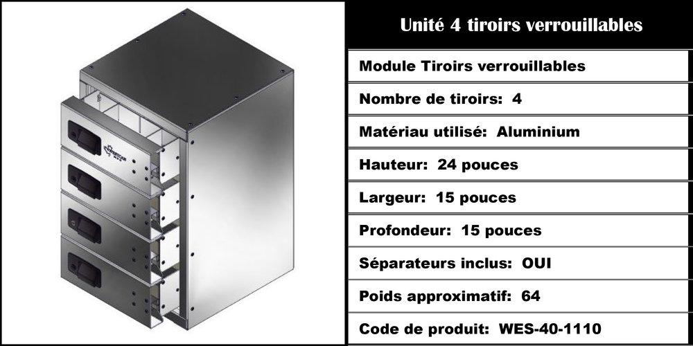 Module Tiroirs WES-40-1110