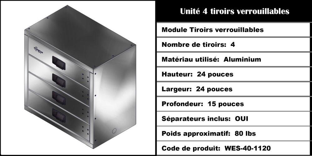 Module Tiroirs WES-40-1120
