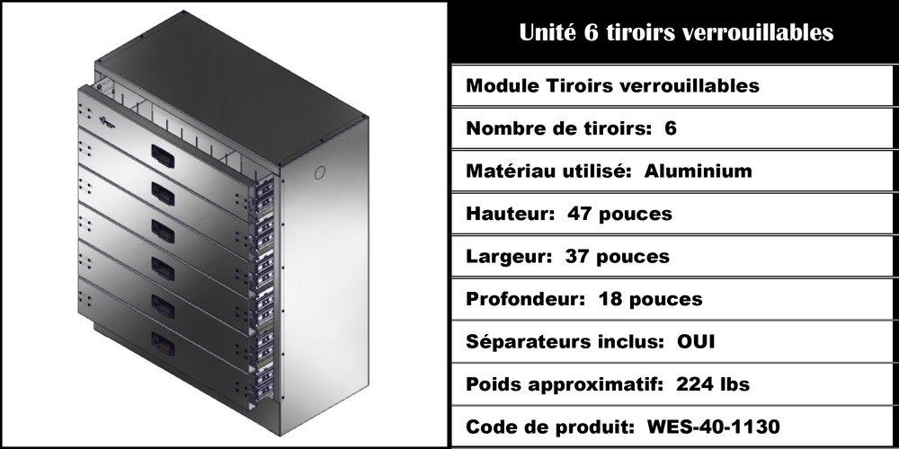 Module Tiroirs WES-40-1130