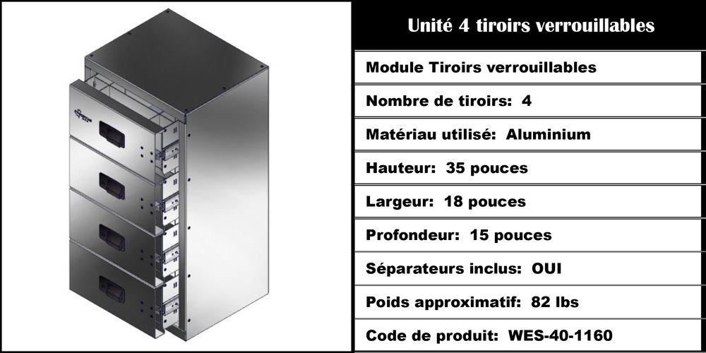 Module Tiroirs WES-40-1160