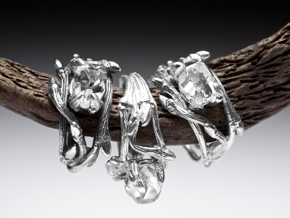 Elvish Herkimer Diamond rings RedSofa jewellery_7071.jpg