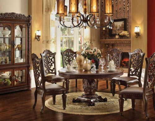 decorative home with elegant dining room furniture