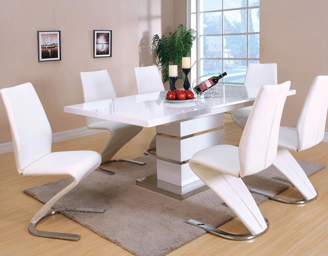 white modern dining room furniture