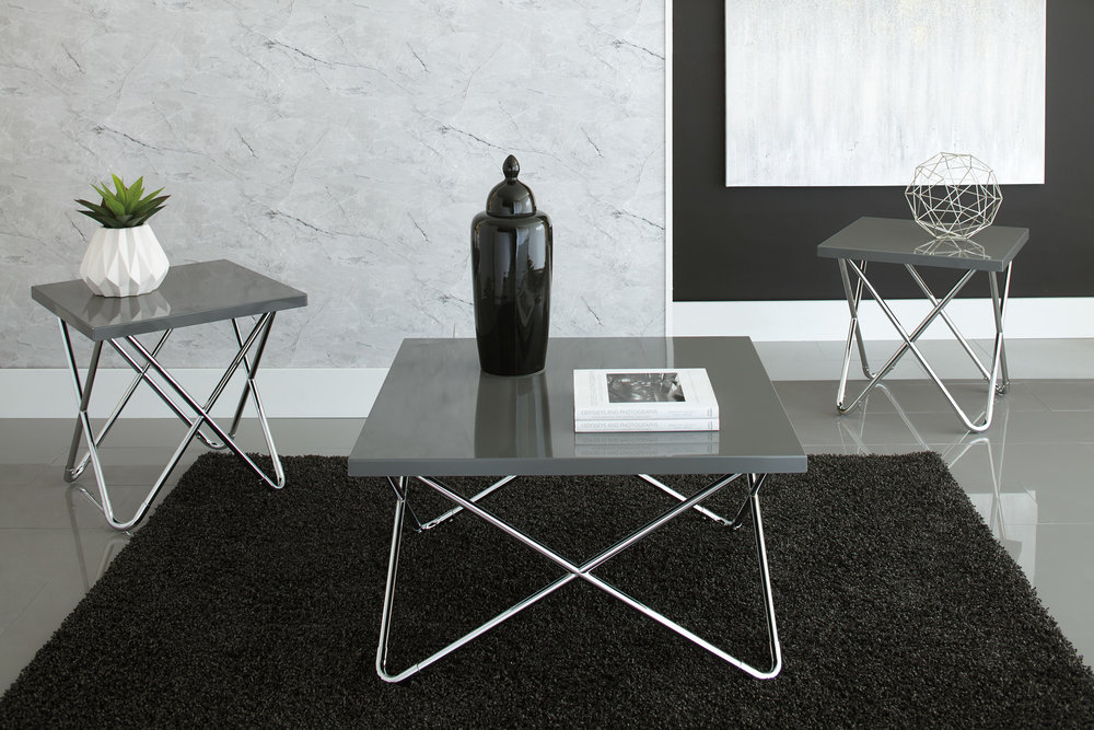 WAREHOUSE PRICE: $349.99 | MONTHLY PAYMENT $7 O.A.C 3PC TABLE SET