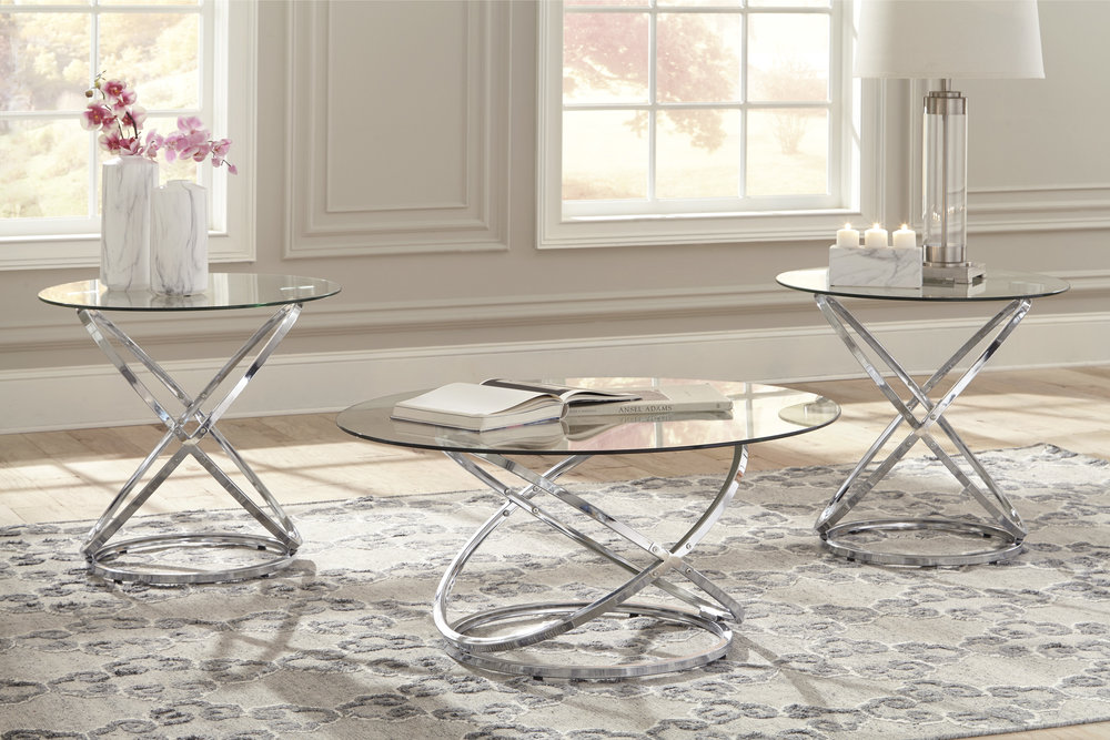 WAREHOUSE PRICE: $299.99 | MONTHLY PAYMENT $6 O.A.C 3PC TABLE SET